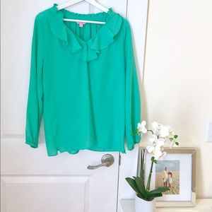 Emerald green Lilly Pulitzer blouse